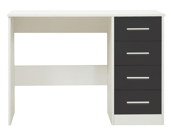 Amelia Dressing Table - Matt White/Gloss Grey
