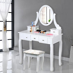 Florence Dressing Table Set - White - Childrens Dressing Table