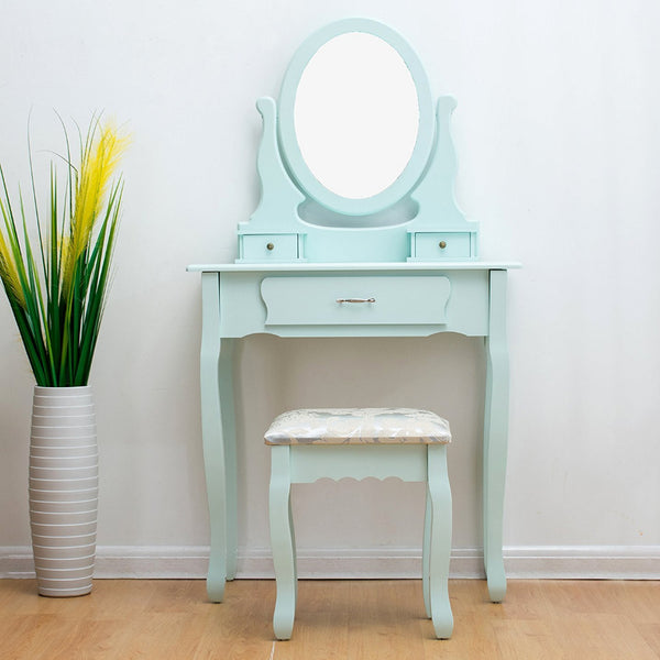 Ella Dressing Table Set - 3 Drawer - Duck Egg