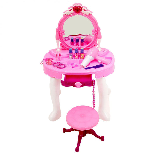 Pink Heart Childrens Dressing Table Set