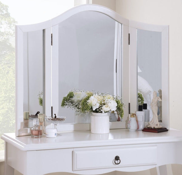 Vivien Dressing Table Mirror - True White