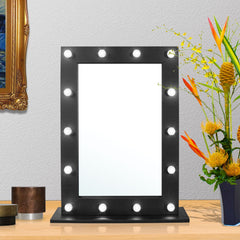 Ava Hollywood Mirror - Black