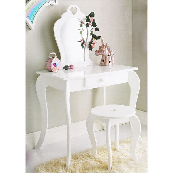 Alarna Childrens Dressing Table Set - White