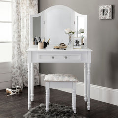 Monroe White Dressing Table Set | DRESSING TABLES UK