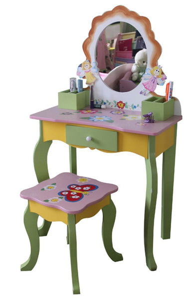 Butterfly Childrens Dressing Table – Green & Yellow