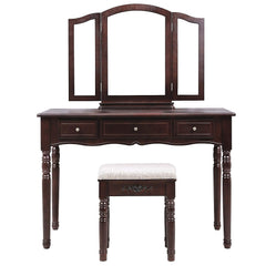 Trinity Dressing Table Set - Brown