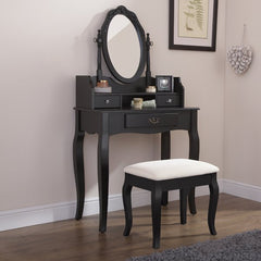 Lucia Dressing Table Set - Black