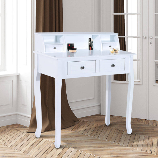 Ultimo Dressing Table – 4 Drawers – White