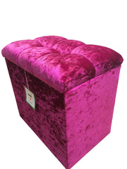 Dressing Table Stool in Pink Glitz