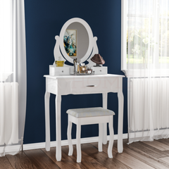 Audrina Dressing Table - White