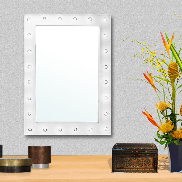 Ava Wall Mounted Hollywood Mirror - White