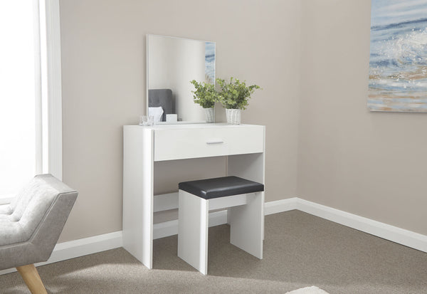 Toronto Dressing Table Set - White