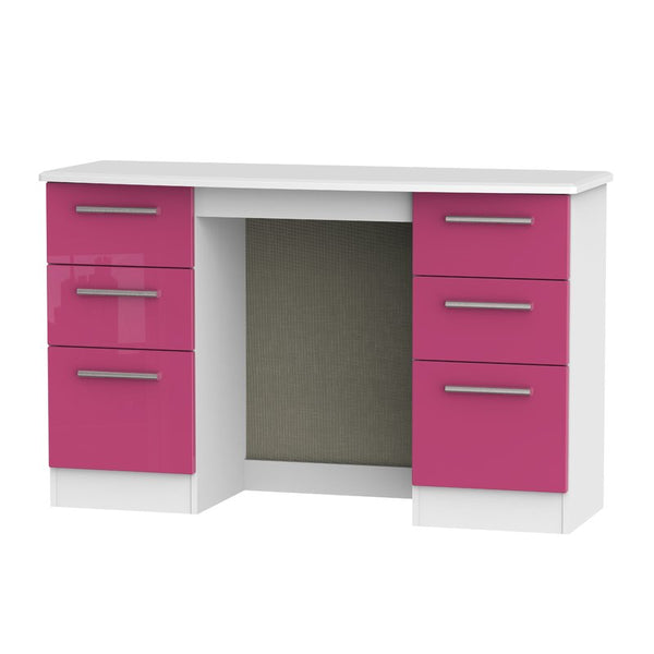 Lynette Dressing Table - White/Pink