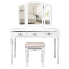Clara Dressing Table Set - White