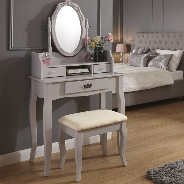 Lucia Grey Dressing Table Set
