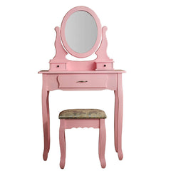 Ella Dressing Table Set Pink | DRESSING TABLES UK
