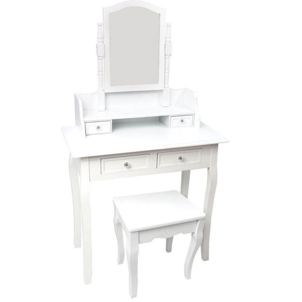 Barraca Dressing Table Set – 4 Drawer – 1 Mirror – White
