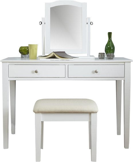 Belva Dressing Table Set - Brilliant White