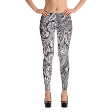Load image into Gallery viewer, Grey Paisley Collections Leggings