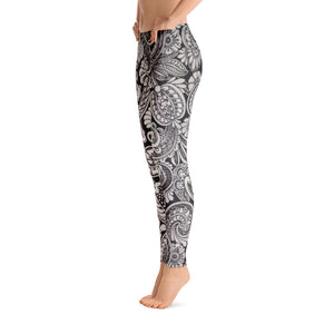 Grey Paisley Collections Leggings