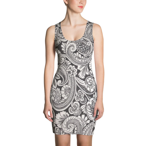 Grey Paisley Collection Dress
