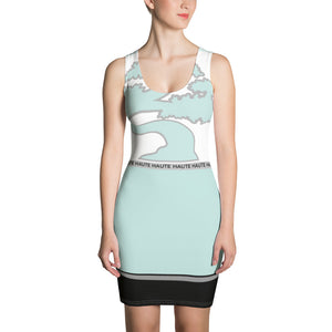 Abstract Turquoise Dress
