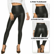 Load image into Gallery viewer, Faux Leather High Waist Pants with Stretch