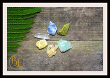 Load image into Gallery viewer, CANCER Gemstone Kit 6 Zodiac Cancer Gemstones Set Healing Crystals Healing Zodiac Cancer Intention Stones Lithiotherapy Cancer Stones Set