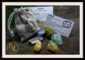 CANCER Gemstone Kit 6 Zodiac Cancer Gemstones Set Healing Crystals Healing Zodiac Cancer Intention Stones Lithiotherapy Cancer Stones Set