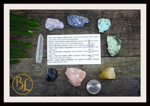 7 Chakra Raw Gemstone Kit Healing Gemstone Set 7 Chakra Raw Crystals Set Healing 7 Chakra Rough Gemstones Intention Stones Lithiotherapy