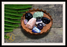 Load image into Gallery viewer, Number 3 THREE Gemstone Kit Numerology Gemstone Kit #3 Gemstone Set Healing Crystals Stone Intention Stones Lithiotherapy Number 3 Gemstones