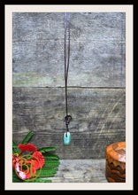 Load image into Gallery viewer, Green Aventurine with 2mm Leather Cord Choose your leather Cord Green Aventurine Pendant Necklace Green Aventurine Drilled Leather Pendant