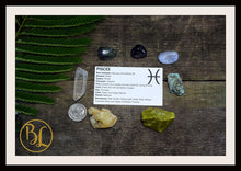 Load image into Gallery viewer, PISCES Gemstone Kit 7 Zodiac Pisces Gemstones Set Healing Crystals Zodiac Pisces Set Intention Set Lithiotherapy Pisces Crystals Stones Set