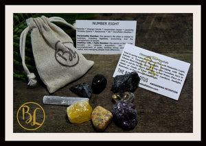 Number 8 EIGHT Gemstone Kit Numerology Gemstone Kit #8 Gemstone Set Healing Crystals Stone Intention Stones Lithiotherapy Number 8 Gemstones