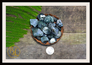 MOSS AGATE Gemstone 3 Piece Set Healing Moss Agate Crystal Kit Moss Agate Intention Set Lithiotherapy Healing Moss Agate 3 Stone Crystal Set