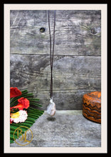 Load image into Gallery viewer, Peach Moonstone 925 Sterling Silver Wire Pendant with 2mm Leather Cord Choose your leather Cord Peach Moonstone 925 Pendant Necklace