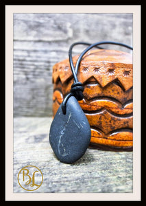 Shungite Pendant with 2mm Leather Cord Choose your leather Cord Shungite Pendant Leather Shungite Chakra Pendant Black Gemstone Pendant