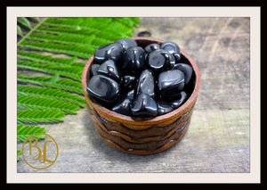 BLACK JET Gemstone 3 Piece Set Healing Black Jet Crystal Kit Black Jet Intention Set Lithiotherapy Healing Black Jet 3 Stone Crystal Set Jet