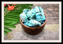 Load image into Gallery viewer, RAW CHRYSOCOLLA Gemstone 3 Piece Set Healing Chrysocolla Crystal Kit Apache Chrysocolla Intention Set Lithiotherapy Healing 3 Stone Set