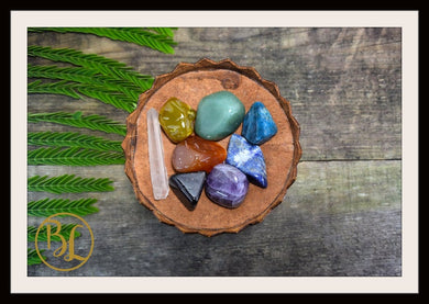 7 Chakra Tumbled Gemstone Kit Clear Quartz Healing Set 7 Chakra Crystals Set Healing 7 Chakra Gemstones Intention Stones Lithiotherapy Set