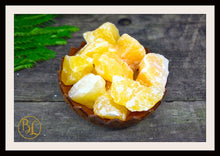 Load image into Gallery viewer, ORANGE CALCITE Gemstone 3 Piece Set Healing Orange Calcite Crystal Kit Calcite Intention Stone Set Lithiotherapy Healing Orange Calcite Set