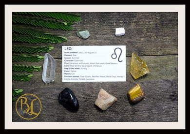 LEO Gemstone Kit 7 Zodiac Leo Gemstones Set Healing Crystals Healing Zodiac Leo Intention Stones Lithiotherapy Leo Stones Set Leo Crystals