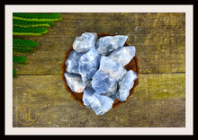 Load image into Gallery viewer, RAW BLUE CALCITE Gemstone 3 Piece Set Healing Blue Calcite Crystal Kit Calcite Intention Stone Set Lithiotherapy Healing Blue Calcite Set