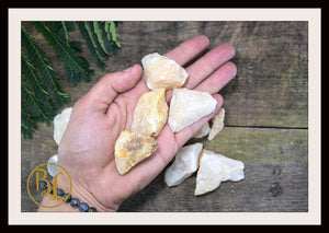 RAW YELLOW AVENTURINE Gemstone 3 Piece Set Healing Yellow Aventurine Crystal Kit Intention Stone Set Lithiotherapy Healing Yellow Aventurine