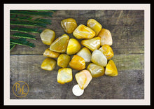 Load image into Gallery viewer, YELLOW AVENTURINE Gemstone 3 Piece Set Healing Yellow Aventurine Crystal Kit Intention Stone Set Lithiotherapy Healing Raw Yellow Aventurine
