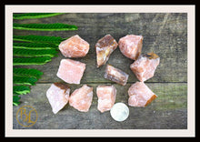Load image into Gallery viewer, RAW RED AVENTURINE Gemstone 3 Piece Set Healing Raw Red Aventurine Crystal Kit Intention Stone Set Lithiotherapy Healing Raw Red Aventurine