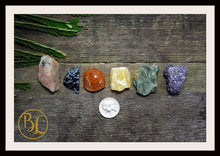 Load image into Gallery viewer, SACRAL CHAKRA Gemstone Kit 7 Healing Sacral Chakra Stones Set Healing Crystals Sacral Chakra Crystals Set Intention Stones Lithiotherapy Set