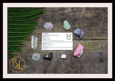 TAURUS Gemstone Kit 7 Zodiac Taurus Gemstone Set Healing Crystal Stone Healing Zodiac Taurus Intention Stones Lithiotherapy Taurus Stone Set