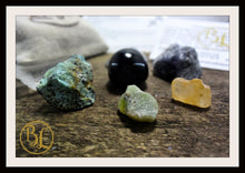 Load image into Gallery viewer, SAGITTARIUS Gemstone Kit 7 Zodiac Sagittarius Gemstones Set Healing Crystals Healing Zodiac Sagittarius Intention Lithiotherapy Sagittarius