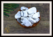 Load image into Gallery viewer, HOWLITE Gemstone 3 Piece Set Healing Howlite Crystal Healing Howlite Intention Stone Howlite Lithiotherapy Howlite Stone Set